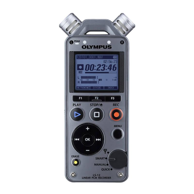 Olympus LS-12 奥林巴斯 专业录音笔 高清降噪索尼M10采访取证无损MP3播放器