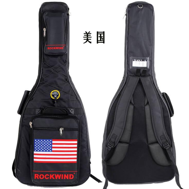 Rockwind 国旗款 41 寸 40寸民谣木吉他包 25mm加厚