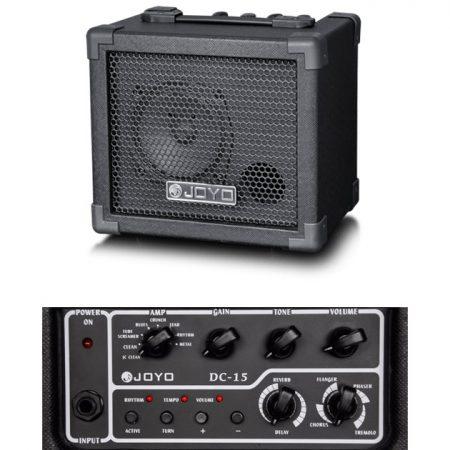 正品 卓乐JOYO DC-15 15W 迷你数字电吉他音箱 效果器音箱带鼓机