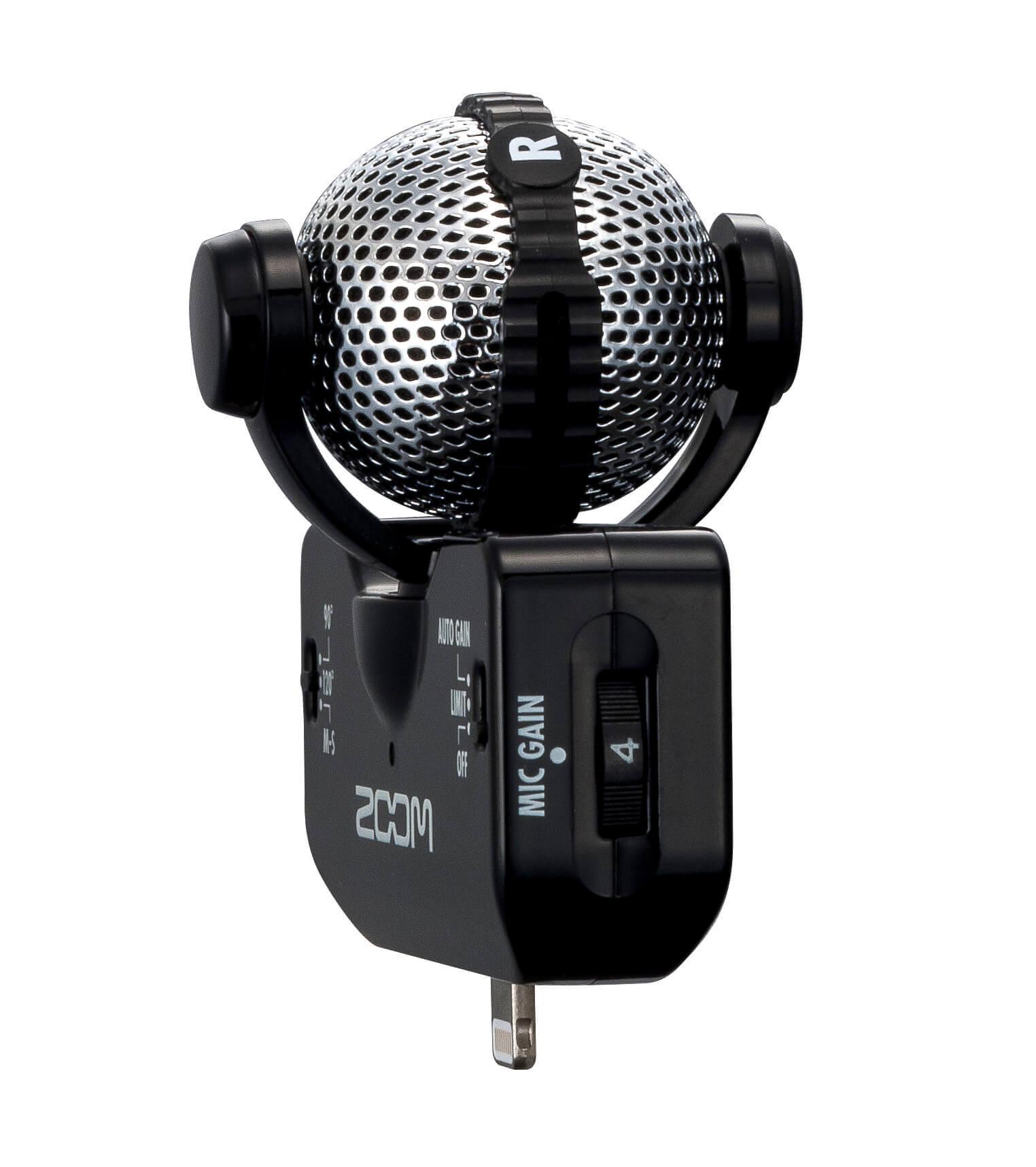 ZOOM IQ5 手机唱吧K歌 苹果录音麦克风 iphone ipad话筒