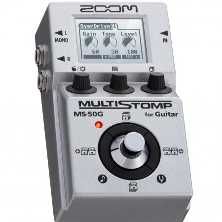 ZOOM MS50G 单块电吉他综合效果器 中文 升级2.0版100种效果