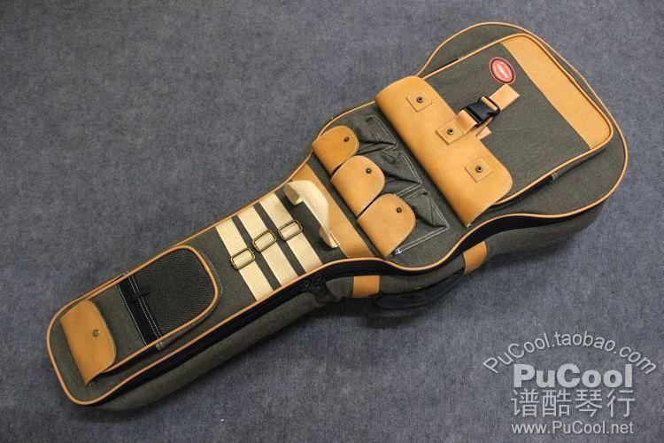 正品 Kava 顶级 豪华 40寸 41寸 民谣吉他包 超厚 皮质