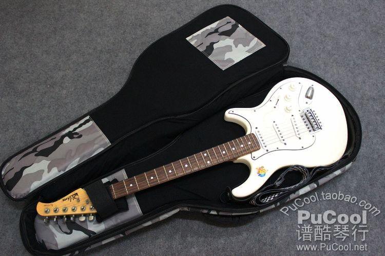 正品 Kava 豪华款 电吉他包 电琴包 加厚 迷彩蓝