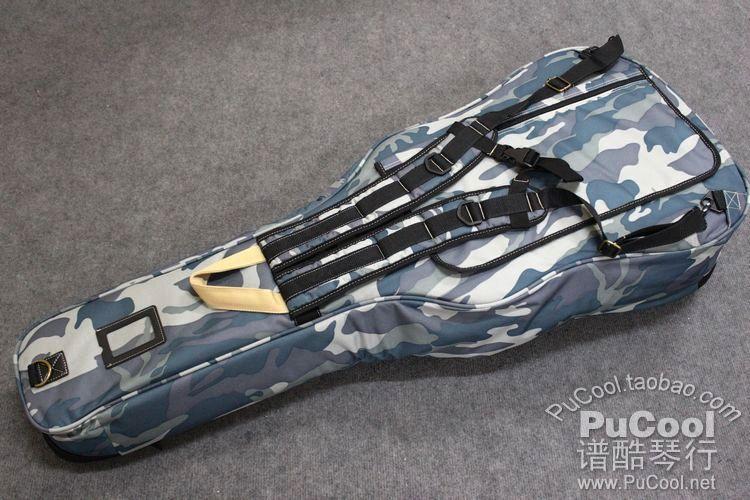 正品 Kava 豪华款 39寸 40寸古典吉他包 加厚 迷彩蓝