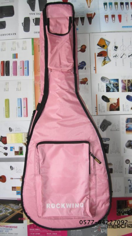 RockWind 木吉他包 40寸、41寸民谣吉他包 粉红色 7mm加厚