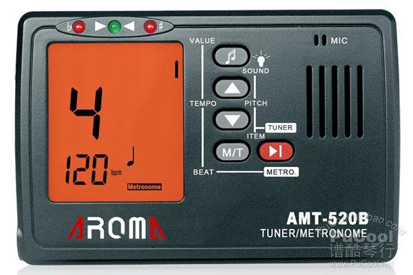 阿诺玛 AROMA 校音器 AMT-520B 吉他贝斯调音器 节拍器