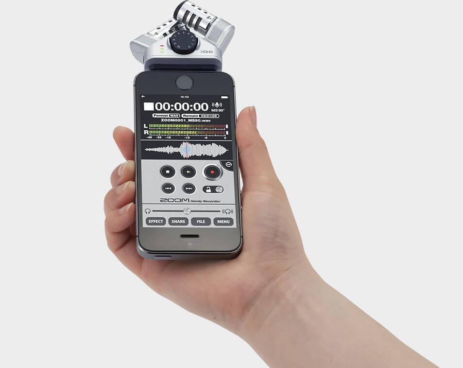 ZOOM IQ6 手机唱吧K歌 苹果录音麦克风 iphone ipad话筒