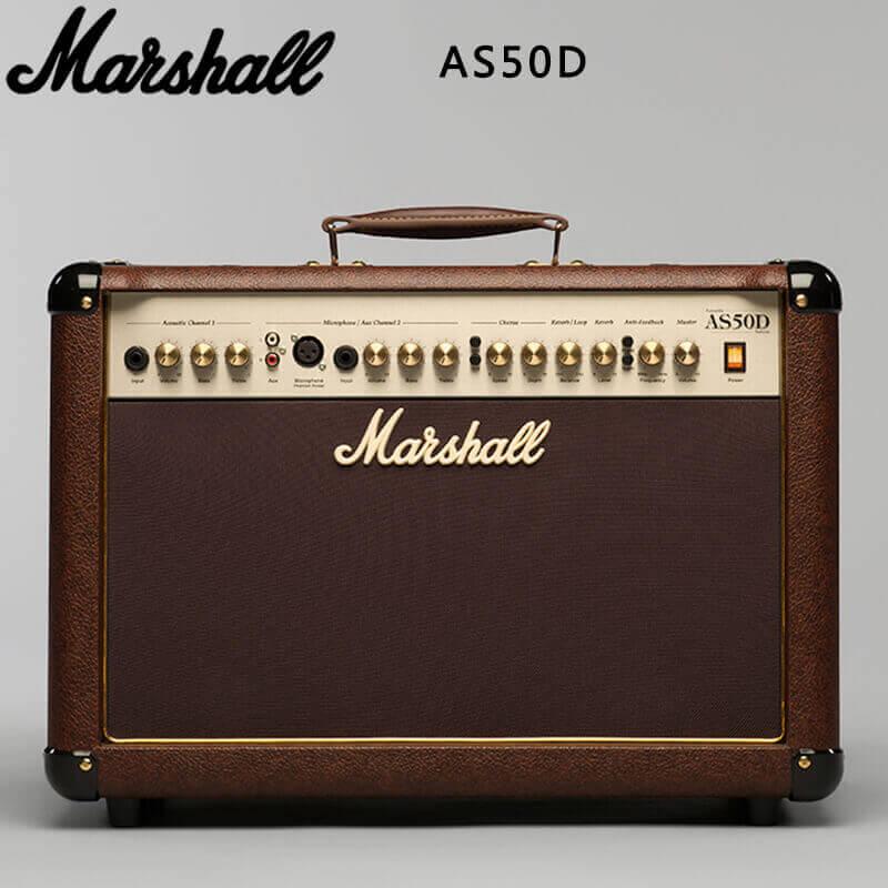 行货 马歇尔 Marshall AS50D 民谣吉他音箱 带效果 3C认证